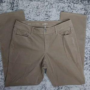 Ann Taylor LOFT Cordory Khaki Curvy Boot Pants